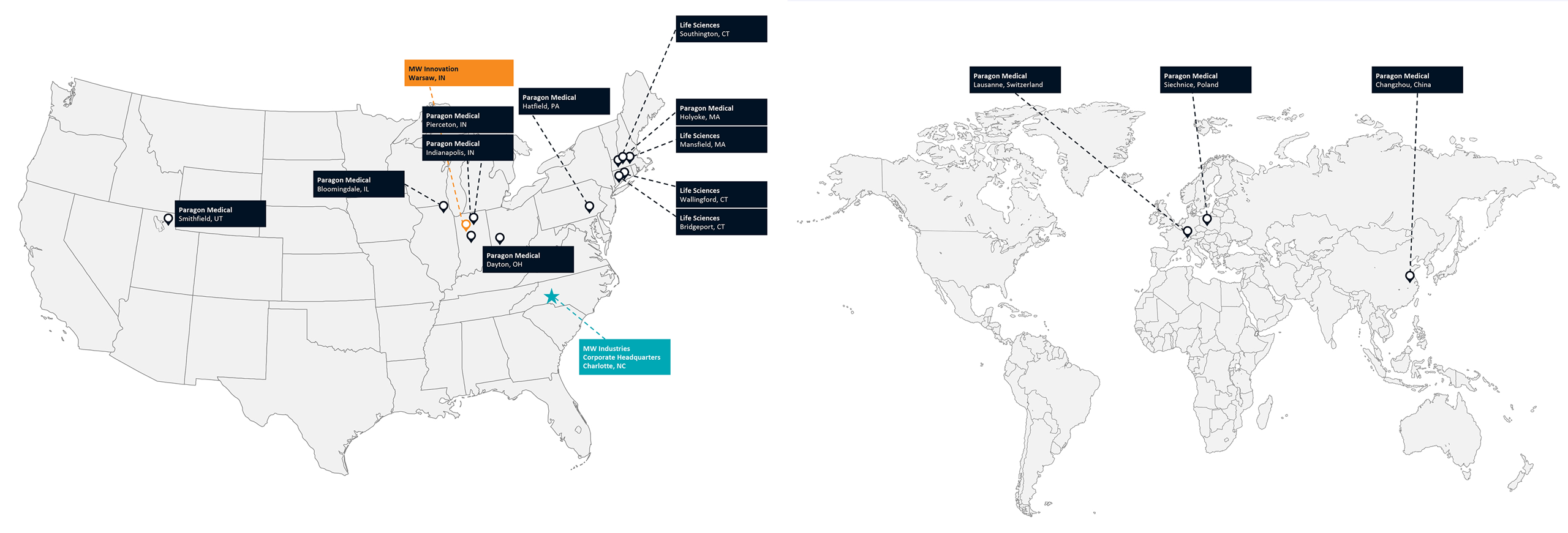 MW Life Sciences - Worldwide Manufacturing Locations